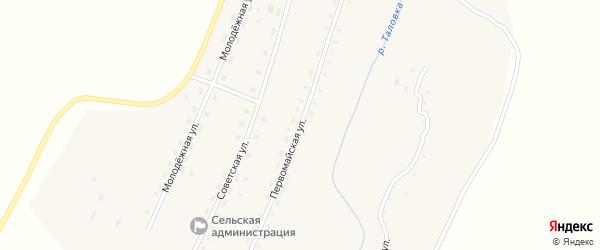 Первомайская улица на карте села Таловки с номерами домов