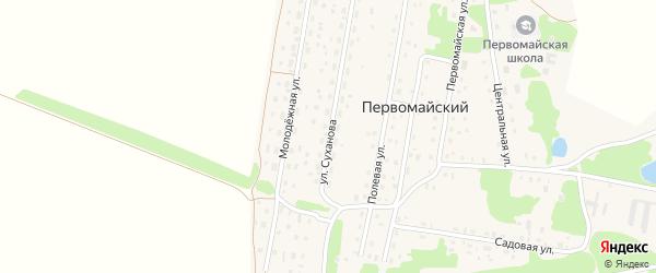 Улица Суханова на карте Первомайского поселка с номерами домов