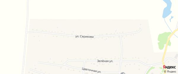 Улица Серикова на карте Порожнего села с номерами домов
