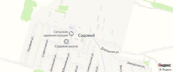 Ручьевая улица на карте Садового поселка с номерами домов