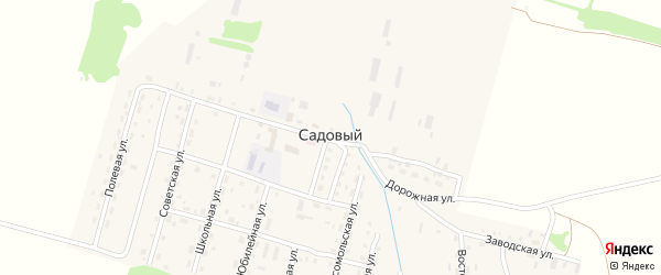Полевая улица на карте Садового поселка с номерами домов