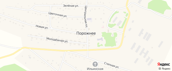 Улица Новикова на карте Порожнего села с номерами домов