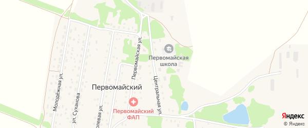 Центральная улица на карте Первомайского поселка с номерами домов