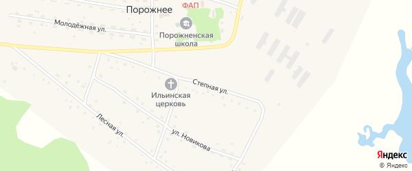 Степная улица на карте Порожнего села с номерами домов