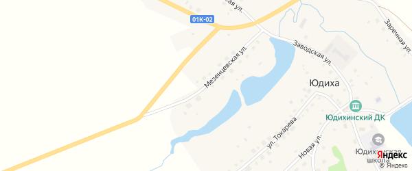 Мезенцевская улица на карте села Юдихи с номерами домов
