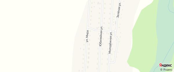 Улица Мира на карте села Кузьминки с номерами домов