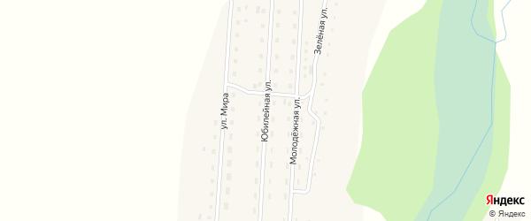 Юбилейная улица на карте села Кузьминки с номерами домов