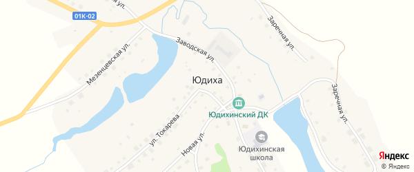 Каменская улица на карте села Юдихи с номерами домов