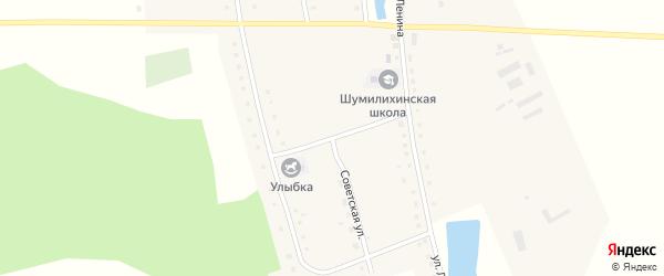 Советская улица на карте села Шумилихи с номерами домов