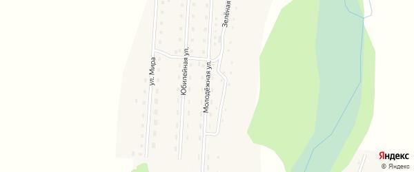 Молодежная улица на карте села Кузьминки с номерами домов