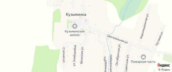Западная улица на карте села Кузьминки с номерами домов