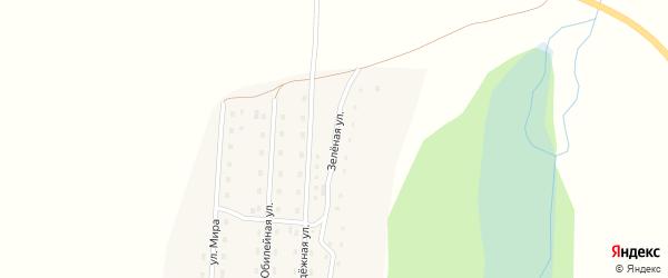 Зеленая улица на карте села Кузьминки с номерами домов