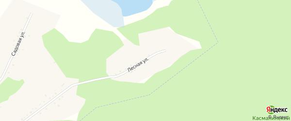 Лесная улица на карте села Кадниково с номерами домов