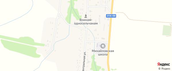 Центральная улица на карте села Михайловки с номерами домов