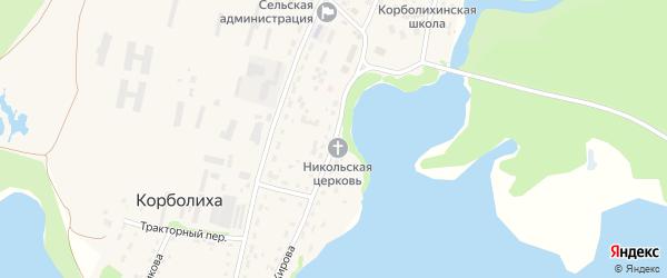 Улица Кирова на карте села Корболихи с номерами домов
