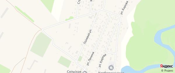Полевая улица на карте села Корболихи с номерами домов