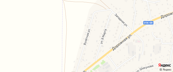 Взлетная улица на карте Староалейского села с номерами домов