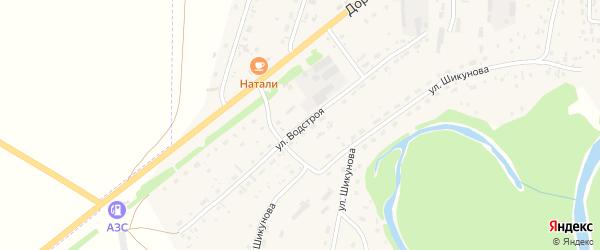 Улица Водстроя на карте Староалейского села с номерами домов