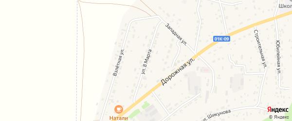 Улица 8 Марта на карте Староалейского села с номерами домов
