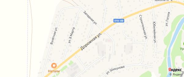 Дорожная улица на карте Староалейского села с номерами домов