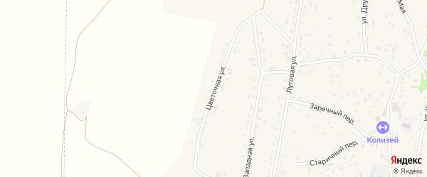Цветочная улица на карте Староалейского села с номерами домов