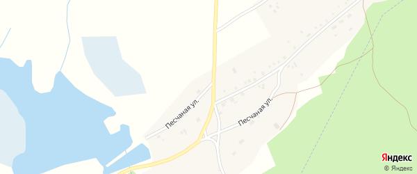 Песчаная улица на карте села Макарово с номерами домов