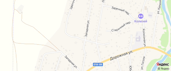 Западная улица на карте Староалейского села с номерами домов