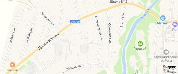 Строительная улица на карте Староалейского села с номерами домов