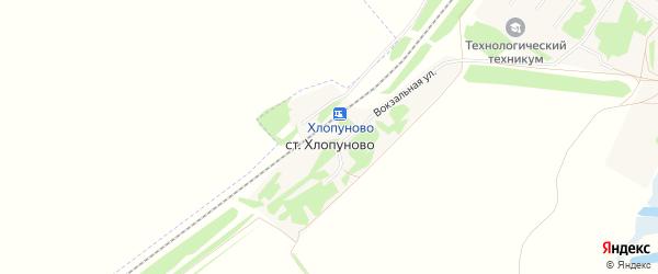 Карта станции Хлопуново в Алтайском крае с улицами и номерами домов