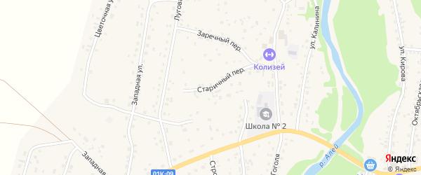 Старичный переулок на карте Староалейского села с номерами домов