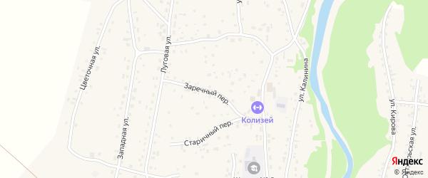 Заречный переулок на карте Староалейского села с номерами домов