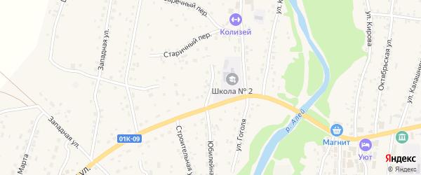 Улица Пушкина на карте Староалейского села с номерами домов