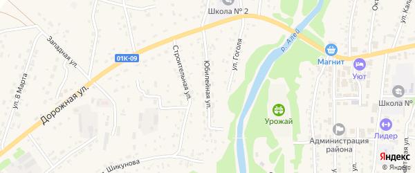 Юбилейная улица на карте Староалейского села с номерами домов