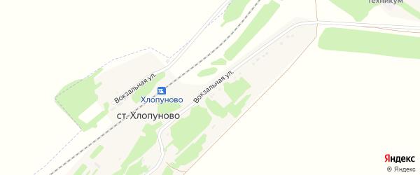 Вокзальная улица на карте станции Хлопуново с номерами домов