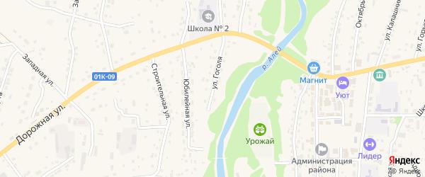 Улица Гоголя на карте Староалейского села с номерами домов