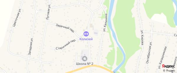 Колхозная улица на карте Староалейского села с номерами домов