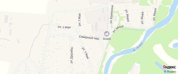 Северный переулок на карте Староалейского села с номерами домов