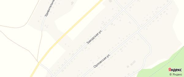 Заводская улица на карте села Макарово с номерами домов