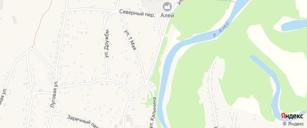 Улица Калинина на карте Староалейского села с номерами домов