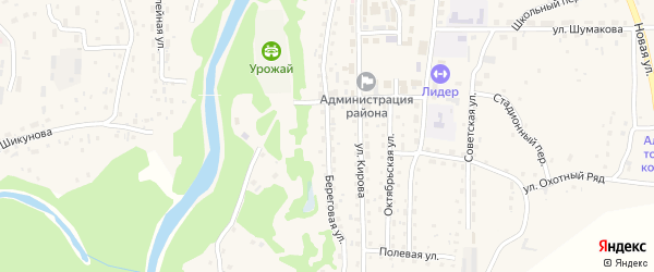 Береговая улица на карте Староалейского села с номерами домов