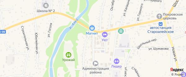 Улица Кирова на карте Староалейского села с номерами домов