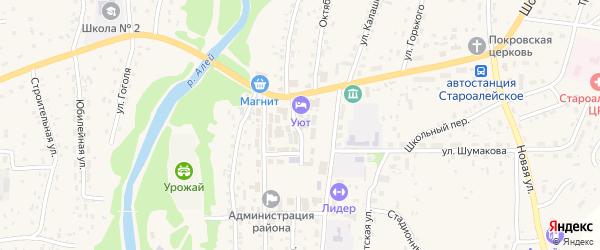 Октябрьская улица на карте Староалейского села с номерами домов