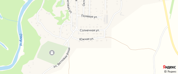 Южная улица на карте Староалейского села с номерами домов