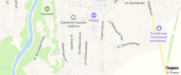 Санитарный переулок на карте Староалейского села с номерами домов