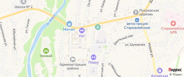 Улица Калашникова на карте Староалейского села с номерами домов