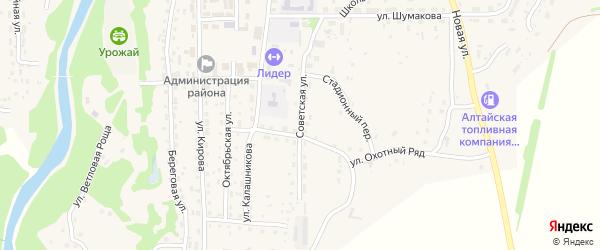 Советская улица на карте Староалейского села с номерами домов