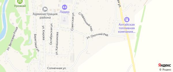 Стадионный переулок на карте Староалейского села с номерами домов