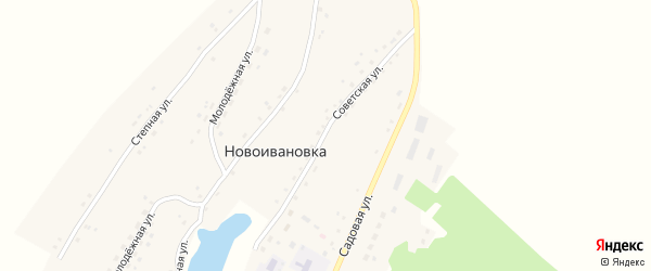 Советская улица на карте села Новоивановки с номерами домов