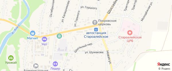 Набережная улица на карте Староалейского села с номерами домов