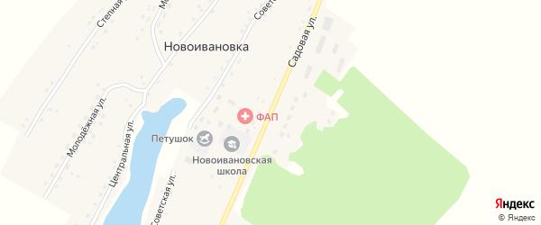 Садовая улица на карте села Новоивановки с номерами домов